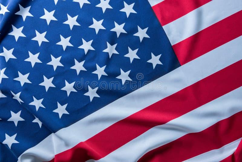 De vlag van de V.S. voor achtergrond stock fotografie