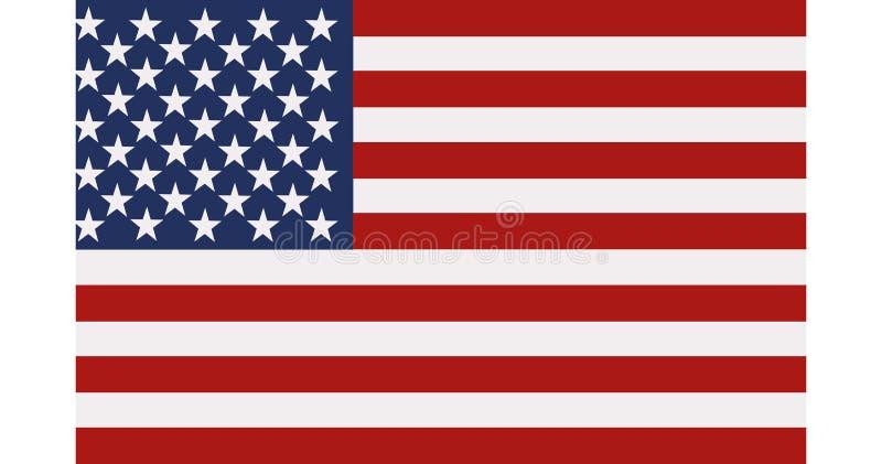 De vlag van Verenigde Staten stock illustratie