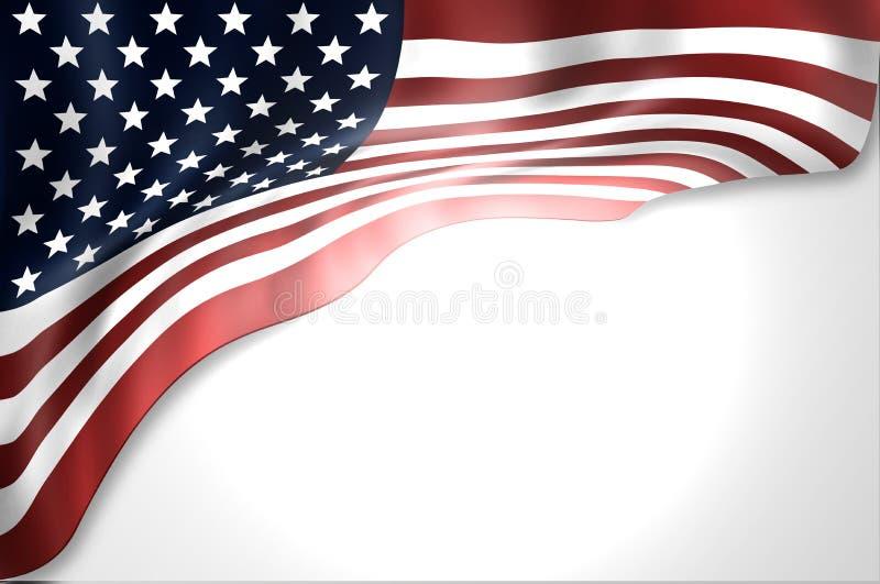 De vlag van Verenigde Staten vector illustratie