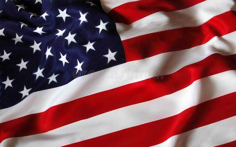 De Vlag van de Verenigde Staten van Amerika de V.S. voor de vakantie vierde van Juli Het vieren Onafhankelijkheidsdag EPS10 vecto royalty-vrije stock fotografie