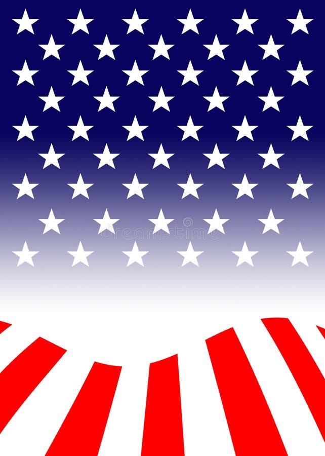 De vlag van de Verenigde Staten van Amerika, vaak als Amerikaanse vlag wordt bedoeld, is de nationale vlag van de Verenigde State stock illustratie