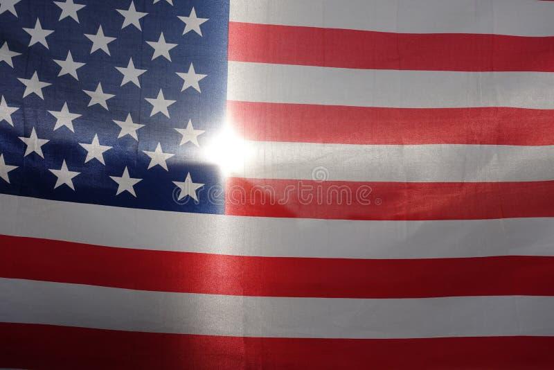 De Vlag van Verenigde Staten, het backlighting royalty-vrije stock foto