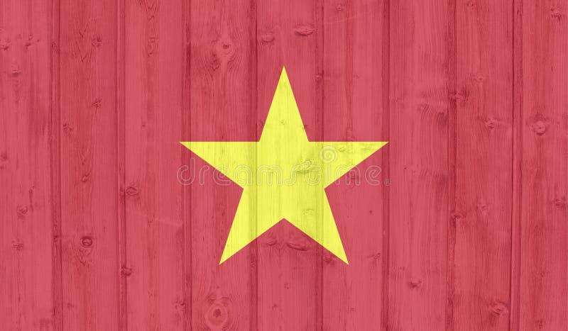 De vlag van Vietnam stock illustratie