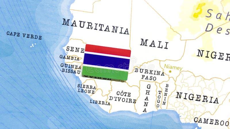 De vlag van ^ in de wereldkaart stock foto's