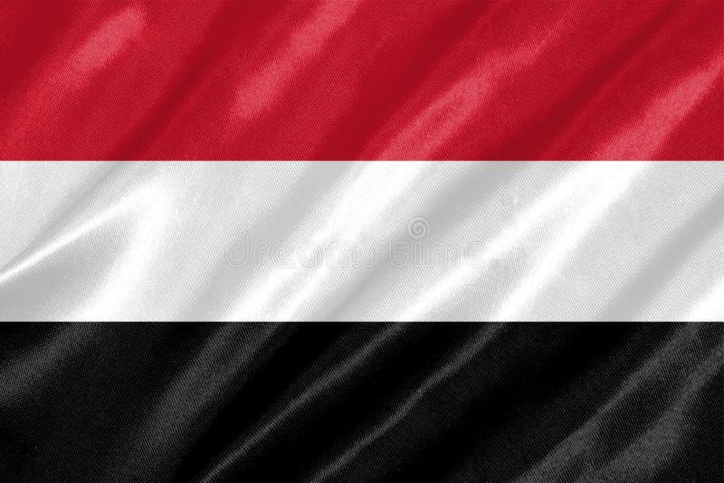 De vlag van Yemen stock illustratie