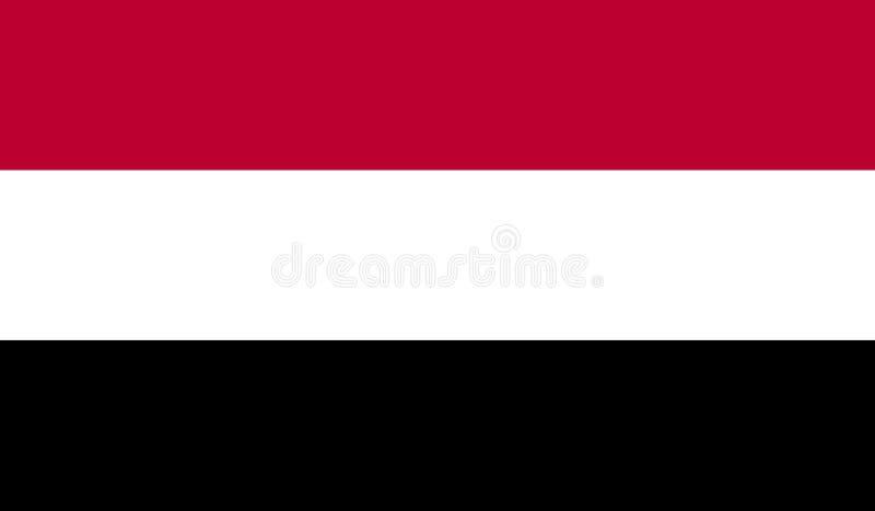 De vlag van Yemen, Republiek Yemen stock illustratie