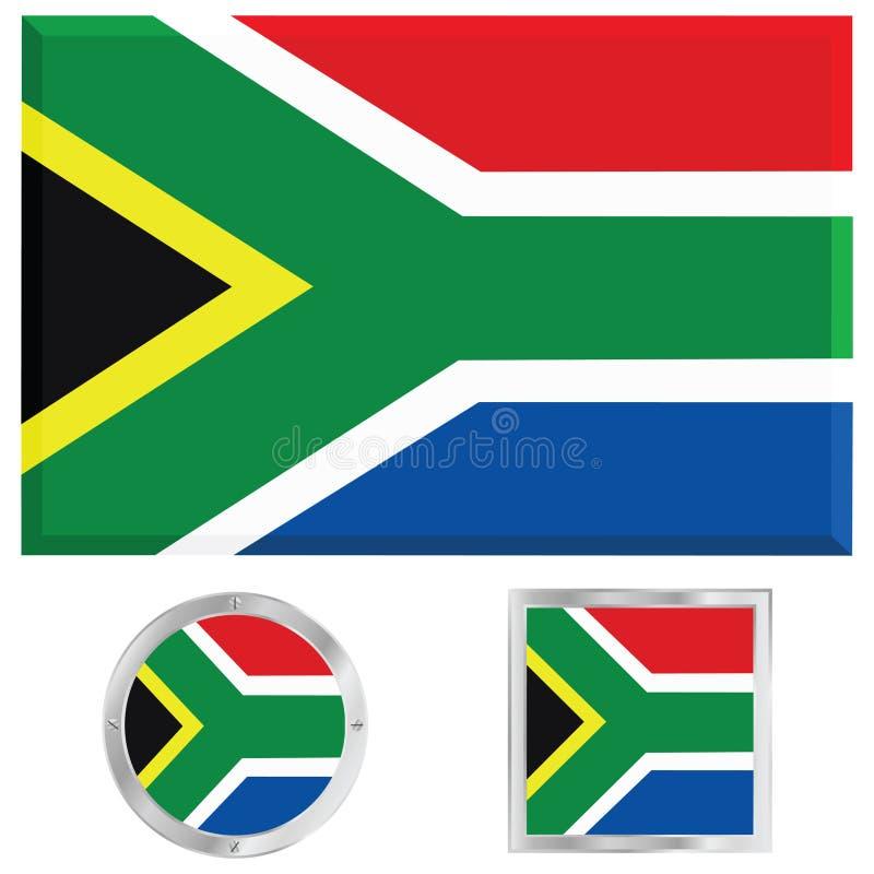 De vlag van Zuid-Afrika vector illustratie