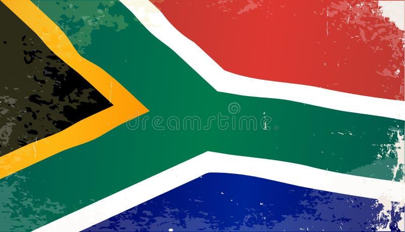 De Vlag van Zuid-Afrika Grunge royalty-vrije illustratie