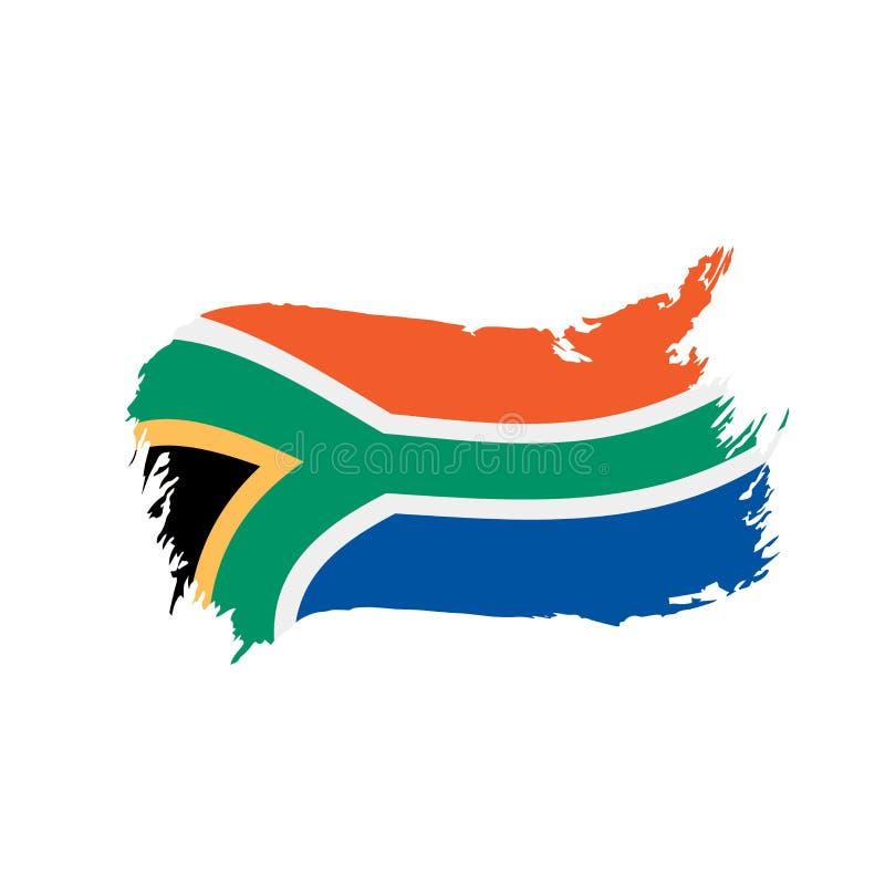De vlag van Zuid-Afrika, vectorillustratie royalty-vrije illustratie
