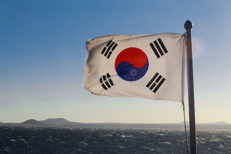 De vlag van Zuid-Korea royalty-vrije stock afbeelding