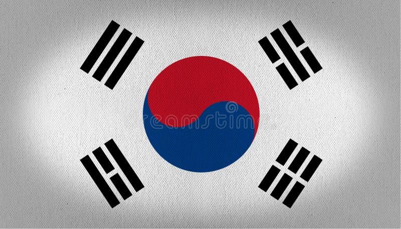 De vlag van Zuid-Korea royalty-vrije illustratie