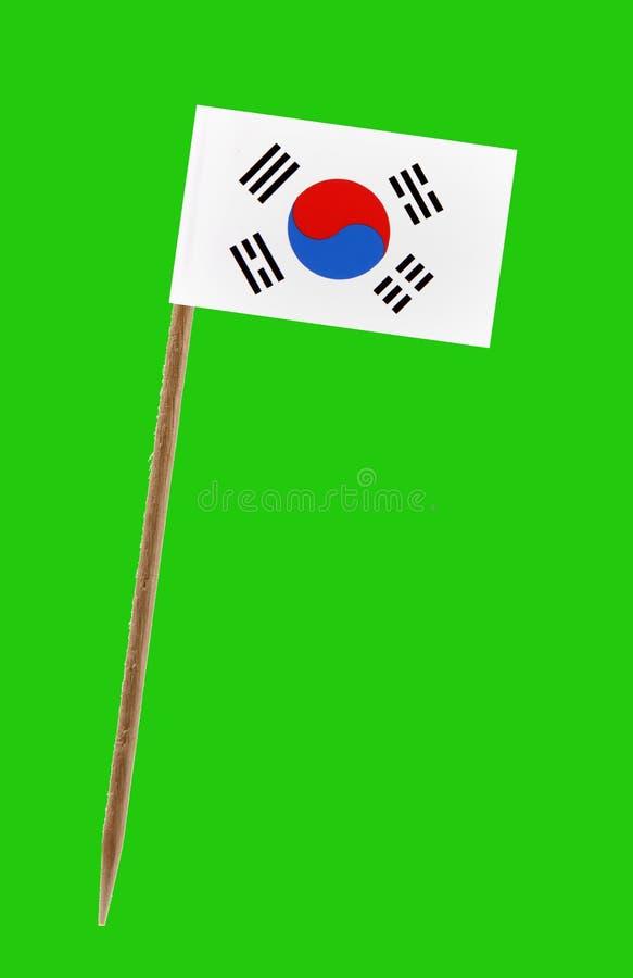 De vlag van Zuid-Korea, met het groene scherm voor chromakey stock afbeelding