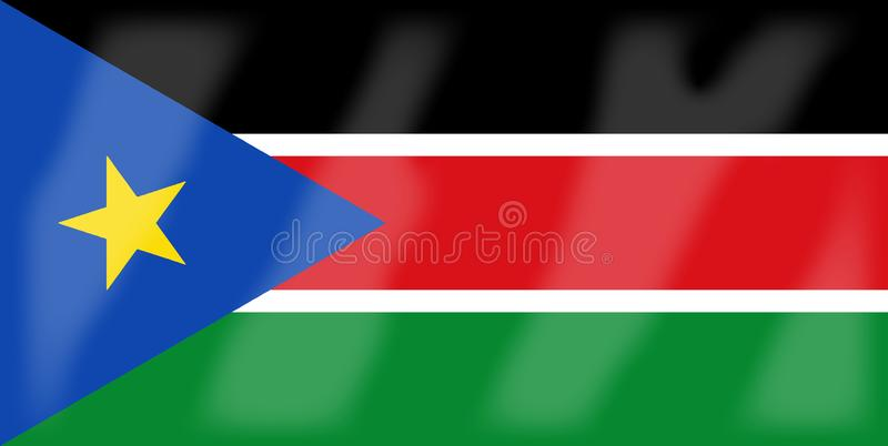 De vlag van Zuid-Soedan royalty-vrije illustratie