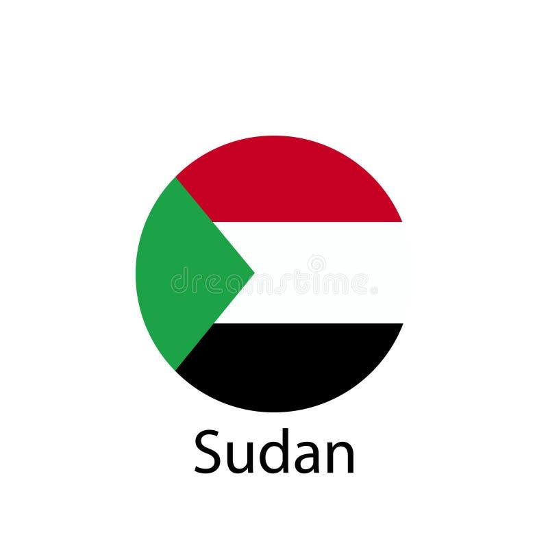 De vlag van Zuid-Soedan, officieel kleuren en aandeel correct De nationale vlag van Zuid-Soedan stock illustratie