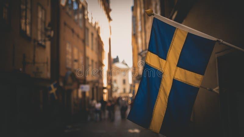 De Vlag van Zweden royalty-vrije stock fotografie