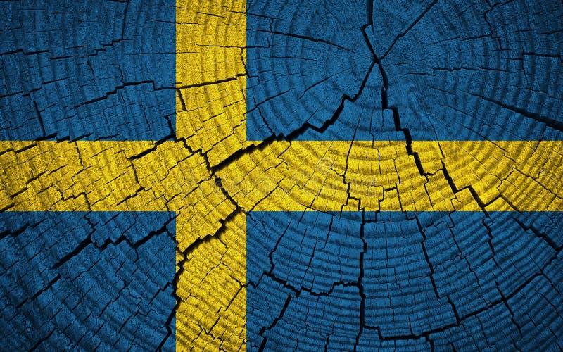 De Vlag van Zweden royalty-vrije stock foto's