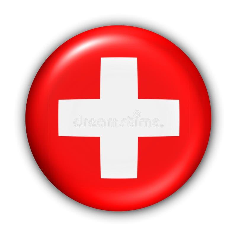 De Vlag van Zwitserland royalty-vrije illustratie