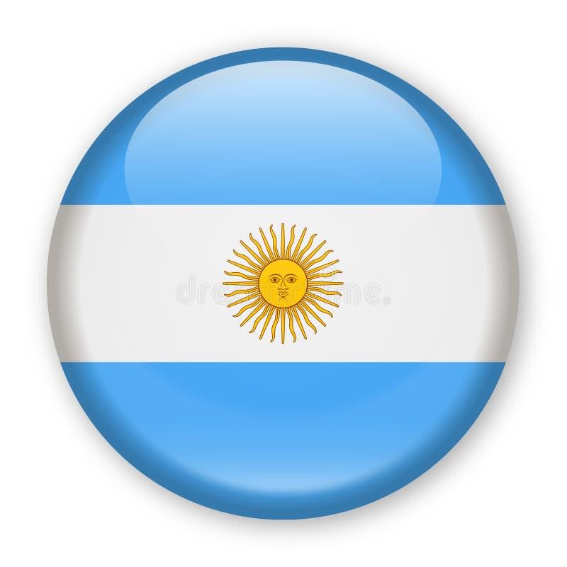 De Vlag Vector Rond Pictogram van Argentinië stock illustratie