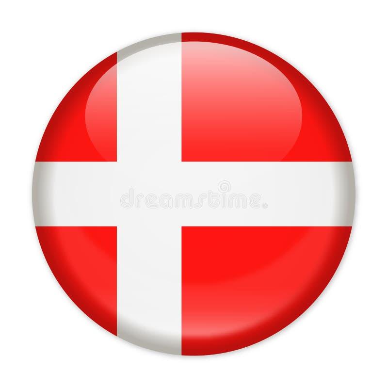 De Vlag Vector Rond Pictogram van Denemarken vector illustratie