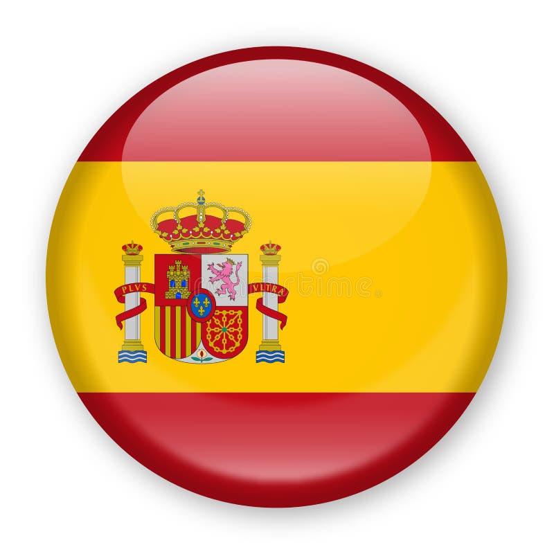 De Vlag Vector Rond Pictogram van Spanje vector illustratie