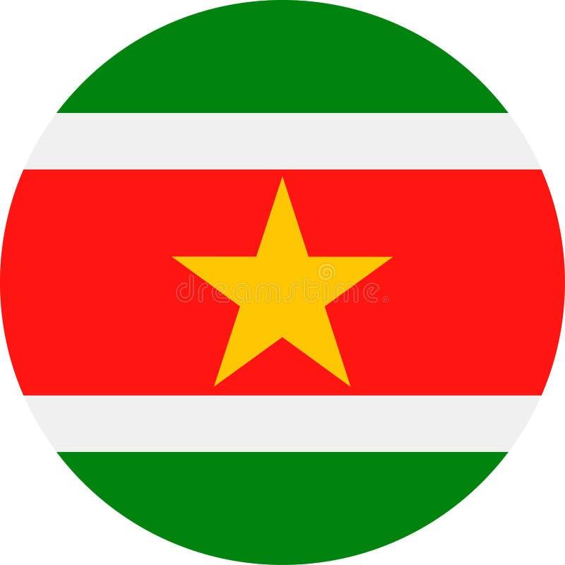 Download De Vlag Vector Rond Vlak Pictogram Van Suriname Stock Illustratie - Illustratie bestaande uit verkiezing, onafhankelijkheid: 107702767