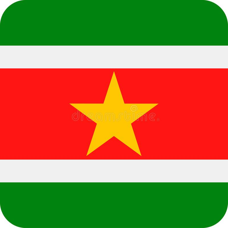 Download De Vlag Vector Vierkant Vlak Pictogram Van Suriname Stock Illustratie - Illustratie bestaande uit vlag, onafhankelijkheid: 107702708