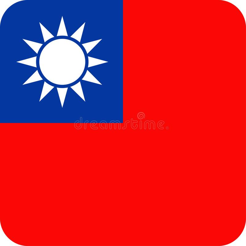 Download De Vlag Vector Vierkant Vlak Pictogram Van Taiwan Stock Illustratie - Illustratie bestaande uit viering, vierkant: 107702966