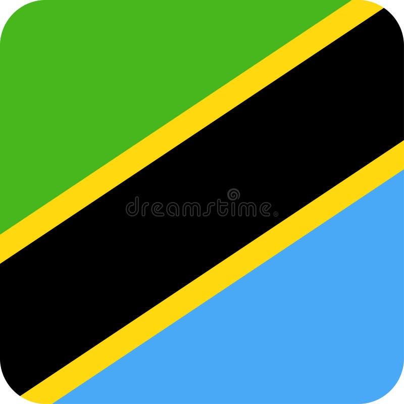 Download De Vlag Vector Vierkant Vlak Pictogram Van Tanzania Stock Illustratie - Illustratie bestaande uit viering, illustratie: 107703259