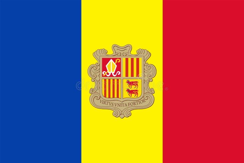 De Vlag Vector Vlak Pictogram van Andorra vector illustratie