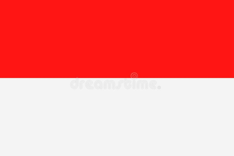 De Vlag Vector Vlak Pictogram van Indonesië stock illustratie