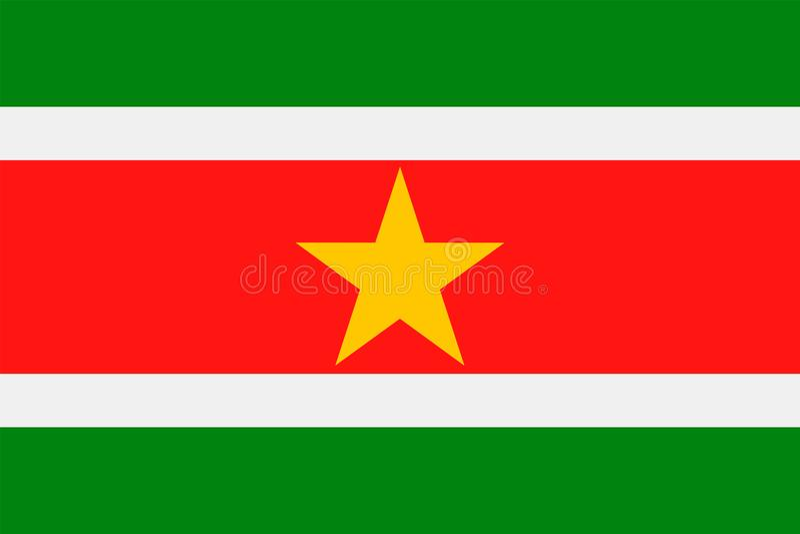 Download De Vlag Vector Vlak Pictogram Van Suriname Stock Illustratie - Illustratie bestaande uit knoop, vrijheid: 107702656