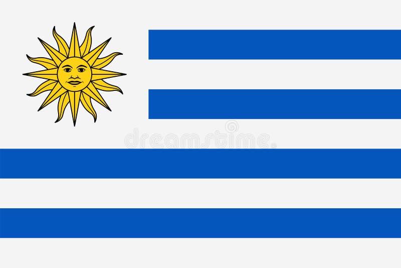 De Vlag Vector Vlak Pictogram van Uruguay stock illustratie