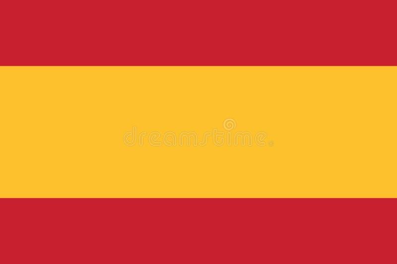 De vlag vectoreps10 van Spanje Spaanse vlag de vlag rode en gele kleuren van Spanje backround royalty-vrije illustratie