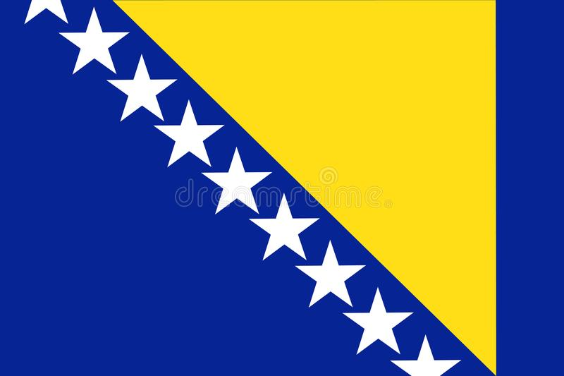 De Vlag vectorillustratie van Bosnië-Herzegovina Bosnië en Herz stock illustratie