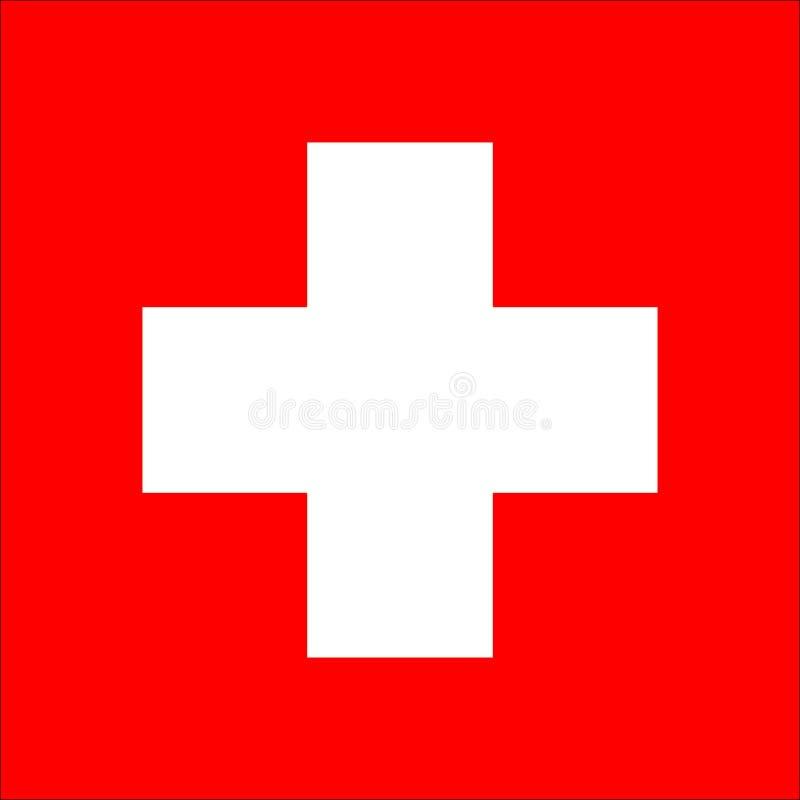 De Vlag Vectorpictogram van Zwitserland stock afbeeldingen
