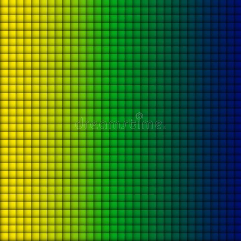 De Vlag Vierkante Geelgroene Blauwe Achtergrond van Brazilië vector illustratie