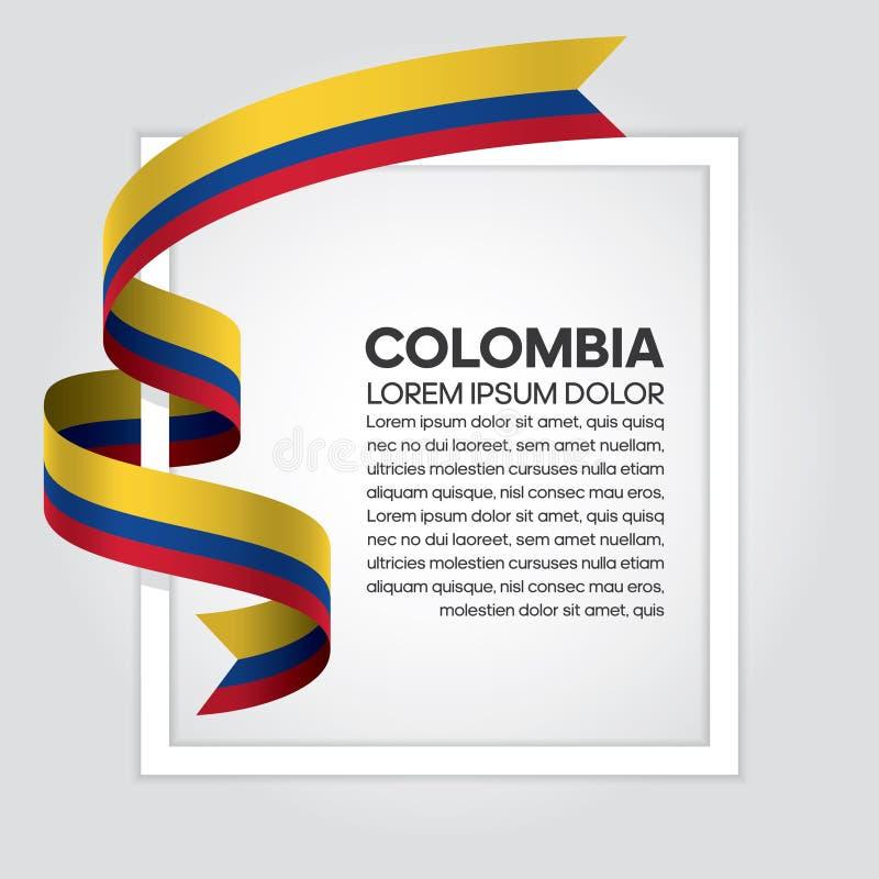 De vlagachtergrond van Colombia royalty-vrije illustratie