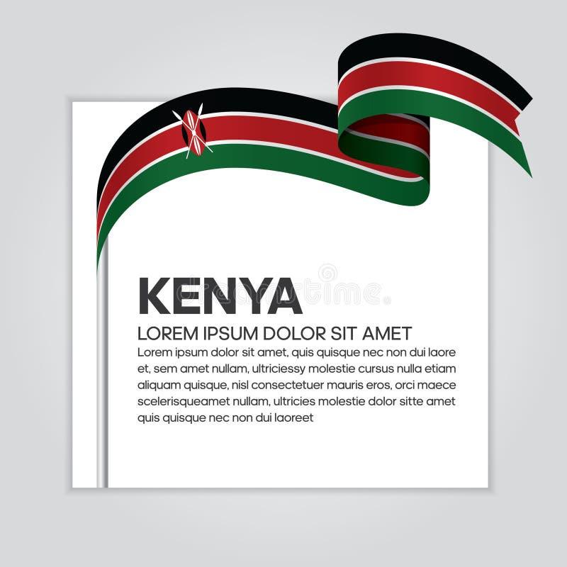 De vlagachtergrond van Kenia stock illustratie
