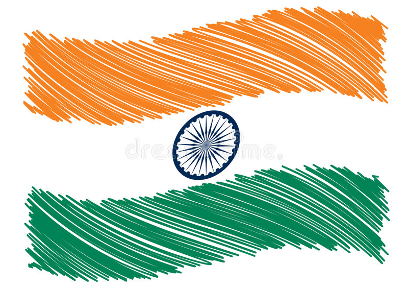 De vlagart. van India royalty-vrije illustratie