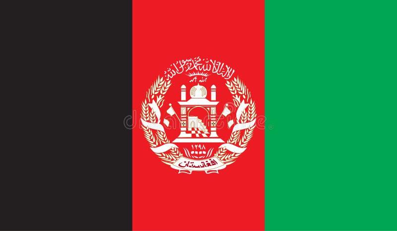 De vlagbeeld van Afghanistan royalty-vrije illustratie