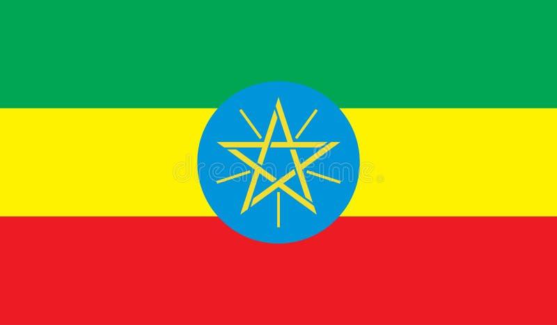 De vlagbeeld van Ethiopië stock illustratie