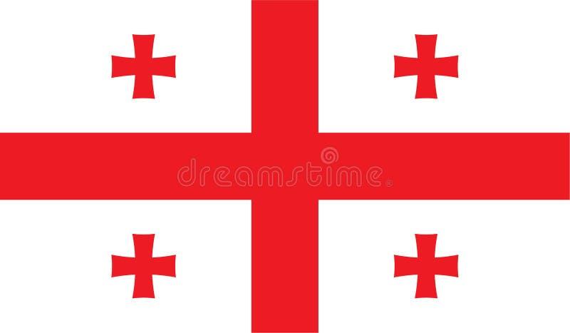 De vlagbeeld van Georgië stock illustratie