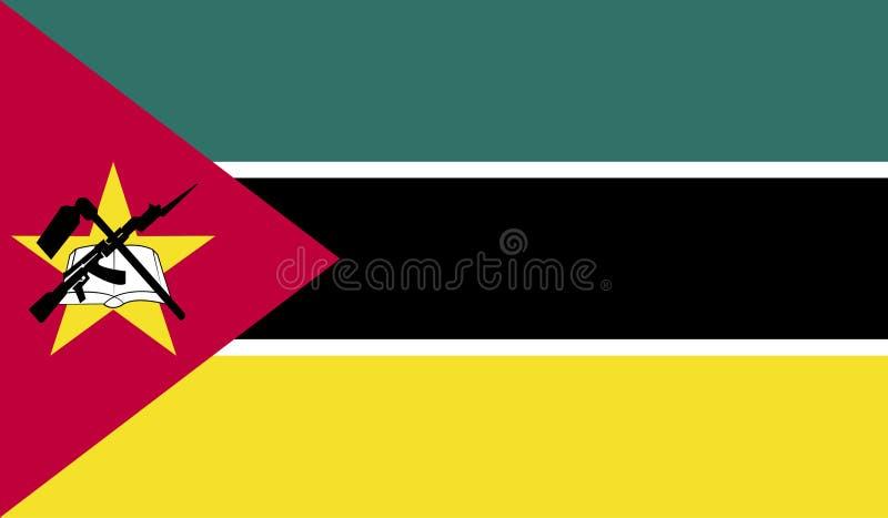 De vlagbeeld van Mozambique royalty-vrije illustratie