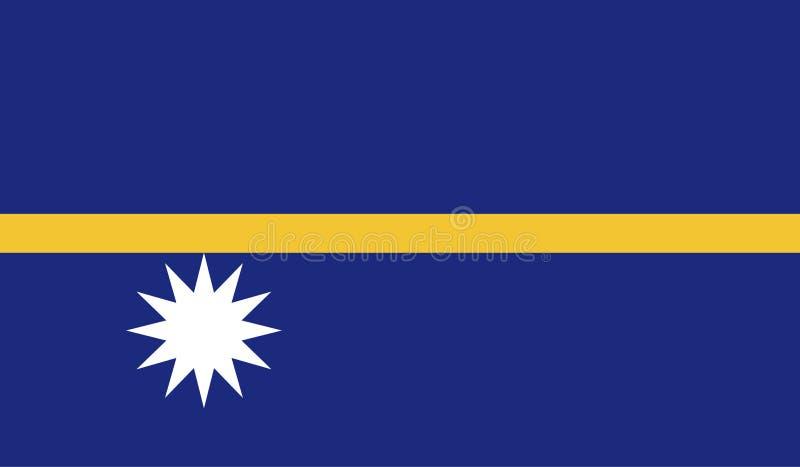 De vlagbeeld van Nauru stock illustratie
