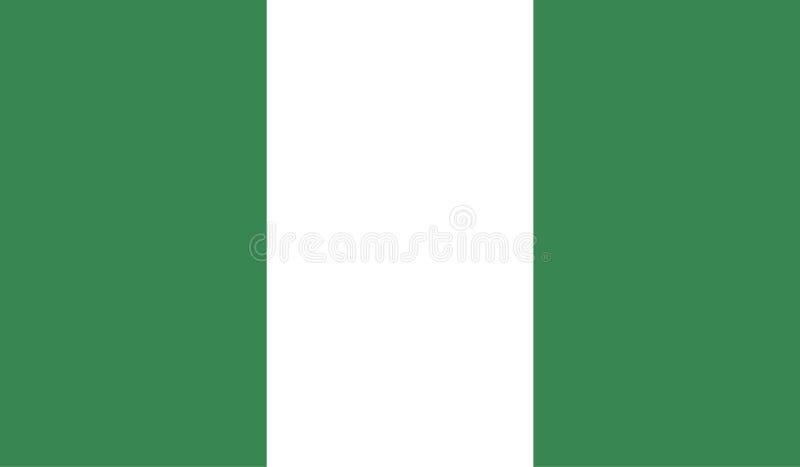 De vlagbeeld van Nigeria stock illustratie