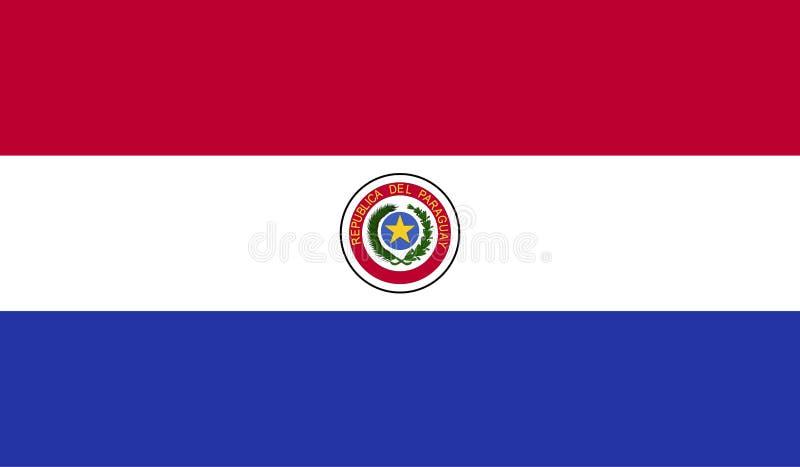 De vlagbeeld van Paraguay stock illustratie