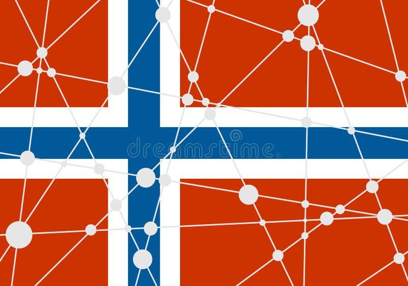 De vlagconcept van Noorwegen stock illustratie