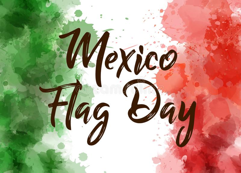 De Vlagdag van Mexico stock illustratie