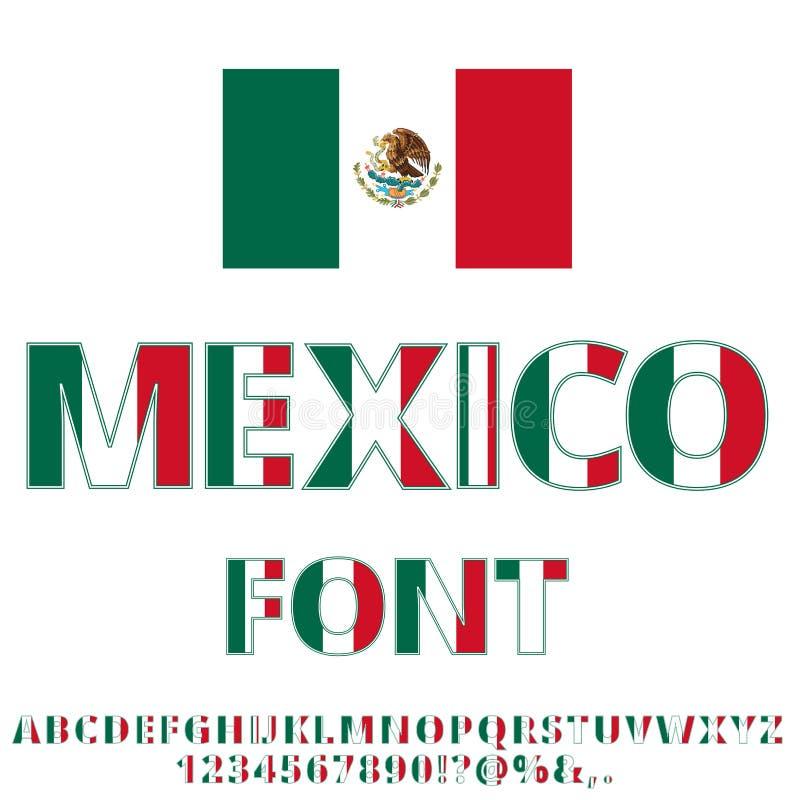 De Vlagdoopvont van Mexico stock illustratie