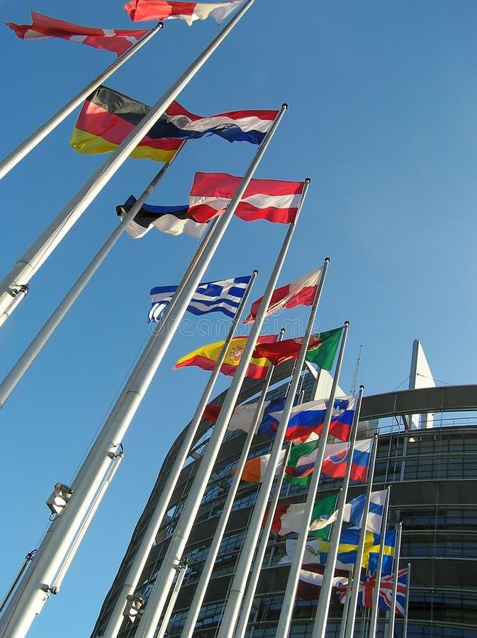 De vlaggen stock afbeelding
